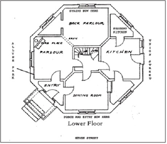 Octagons A Popular Design In The 1860s on Round Circle House Floor Plans