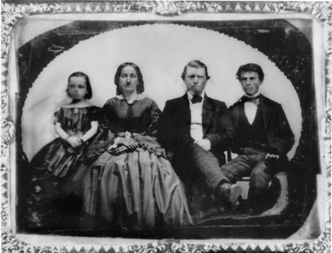 Ambrotype photograph of McElroy family from time capsule. Courtesy of Octagon House archives.