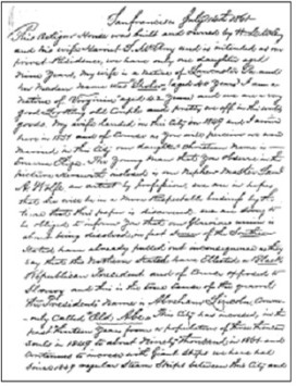 A portion of William McElroy's letter from the time capsule. Courtesy of Octagon House archives.